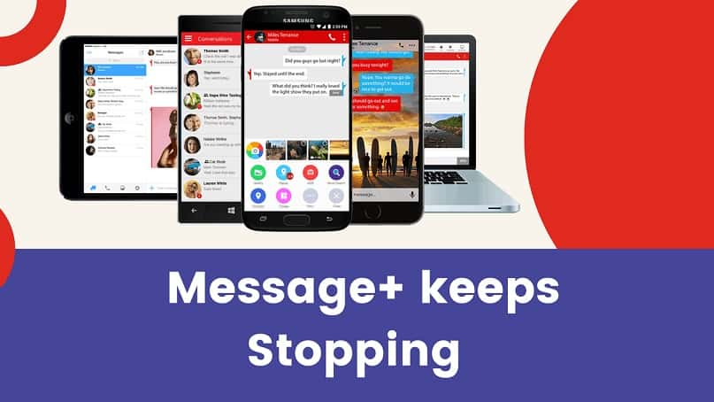 message+ keeps stopping